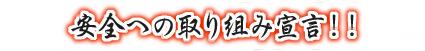 安全への取り組み宣言!!